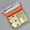 Marbled Paper Design Letter Writing Set, opened box with contents inside
