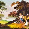 Hicks: The Peaceable Kingdom, 1826 Archival Poster, detail