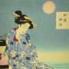Yoshitoshi: Cooling off at Shijo by the Kamo River Archival Poster, detail