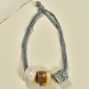 Three Bead Luster Necklace by Curious Clay, Dark Grey