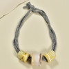 Three Bead Luster Necklace by Curious Clay, White