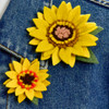 Small and Large Sunflower Pins by Felt Up by Amelia (sold separately)