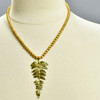 Fern Pendant on Pearl Chain, on mannequin