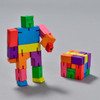 Cubebot figure shown in figure and cube formations