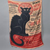 Cream, Black, and Red Chat Noir Scarf