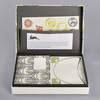 Art Nouveau Letter Writing Set Interior with Envelopes, Papers, and Stickers Neatly in Organizational Pockets