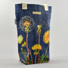 Navy Dandelion Tote Bag Standing Up with Handle Back