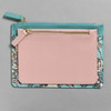 Blue and Pink William Morris & Co. Pouch Set Smaller Pouch in Front