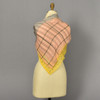 Back of Heartmade Roxy Yellow Scarf on mannequin