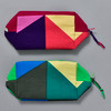 Heartmade Geometric Print Zip Pouches in two colors