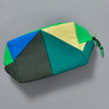 Heartmade Green Geometric Print Zip Pouch