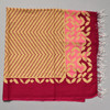 Heartmade Chevron Patterned Pink Scarf folded