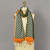 Heartmade Olive and Orange Scarf on mannequin