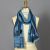 Blue & Navy Dusk Cosmos Scarf on mannequin
