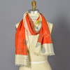 Orange & Olive Dawn Cosmos Scarf on mannequin