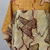 One Of A Kind Brown Silk Shibori Blouse on mannequin, close up