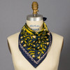 Navy With Yellow Tulips Bandana on mannequin
