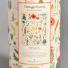 close-up of back of canister - Wildflowers Vintage Puzzle