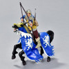 Archer Blue and Gold figurine on horseback