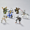 Archer Blue and Gold figurine in battle scene