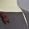 Bistro Chair Metal Thread Pin on clothing