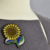 Sunflower Metal Thread Pin on clothing