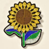 Sunflower Metal Thread Pin