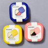 BENTO BOX CORAL available colors - blue, yellow, coral