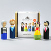 DOLLS MODERN ARTIST SET OF 4 - dolls with package