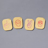 """Hand Sign Alphabet Tiles, tiles spelling """"LOVE"""" in sign language"""