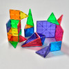 MAGNA-TILES CLEAR COLOR STARTER SET 32 PIECE in use