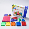 MAGNA-TILES CLEAR COLOR STARTER SET 32 PIECE packaging and contents