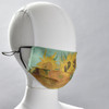 Van Gogh Sunflower Face Mask by Ana Thorne on mannequin