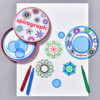 Mini Spirograph in Tin with example of use