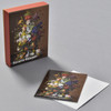 Severin Roesen Flower Still Life with Bird's Nest Notecard Set, box with notecard and envelope