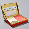 Indian Block Prints Letter Writing Set, open box showing contents