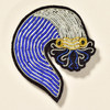 Blue Wave Metal Thread Pin