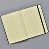 Frank Gehry Philadelphia Museum of Art Moleskin Notebook open with elastic