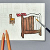 van Gogh Postcard Coloring Book example of use