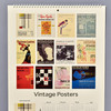 Vintage Exhibition Posters 2021 Wall Calendar detail of back