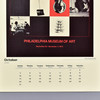Vintage Exhibition Posters 2021 Wall Calendar detail of date grid