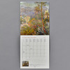 Monet 2021 Wall Calendar interior, month grid and image