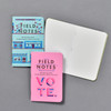 United States of Letterpress Notebooks (Set of 3), fronts and open