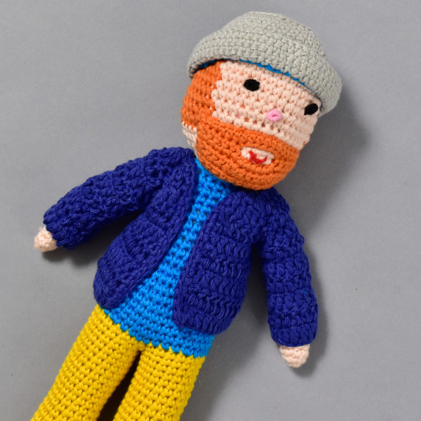 Vincent Van Gogh Crocheted Doll, close up