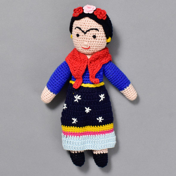 Frida Kahlo Crocheted Doll
