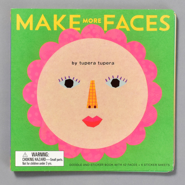 Make More Faces Sticker Book cover