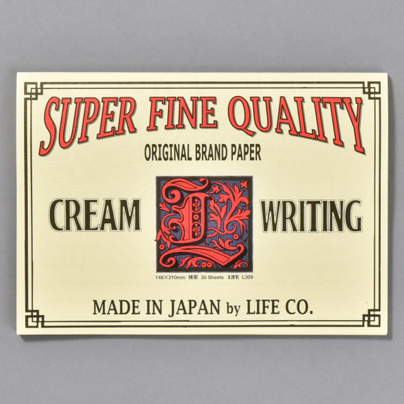 Life Brand Letter Pad: Cream Writing Pad; cover of pad