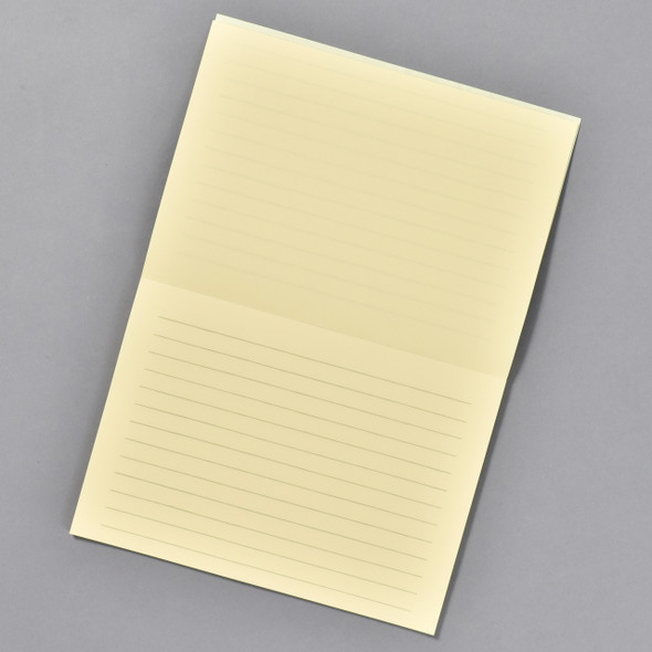 Life Brand Letter Pad: Cream Writing Pad; interior showing lined paper