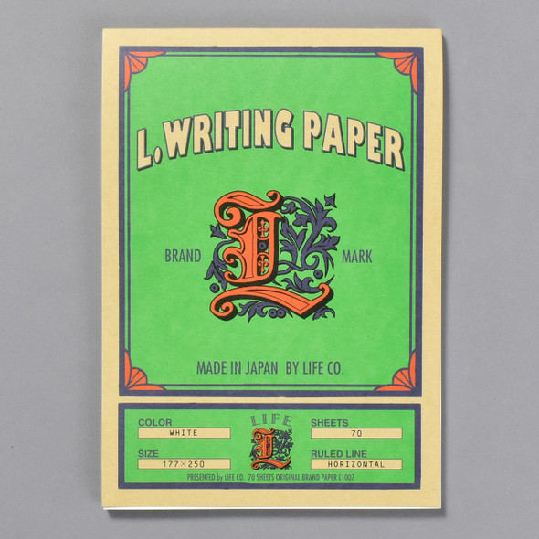 Life Brand L Writing Paper Pad cover