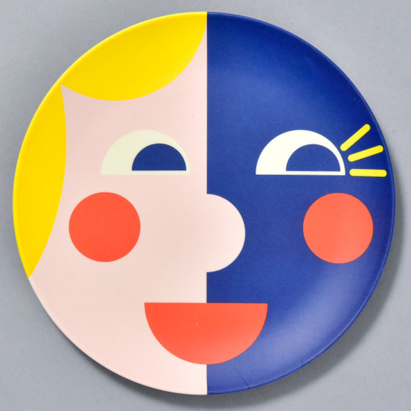 Bamboo Face Plate Yellow & Blue
